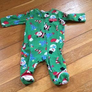 Other - Christmas Footie Pajamas PJ's Fleece